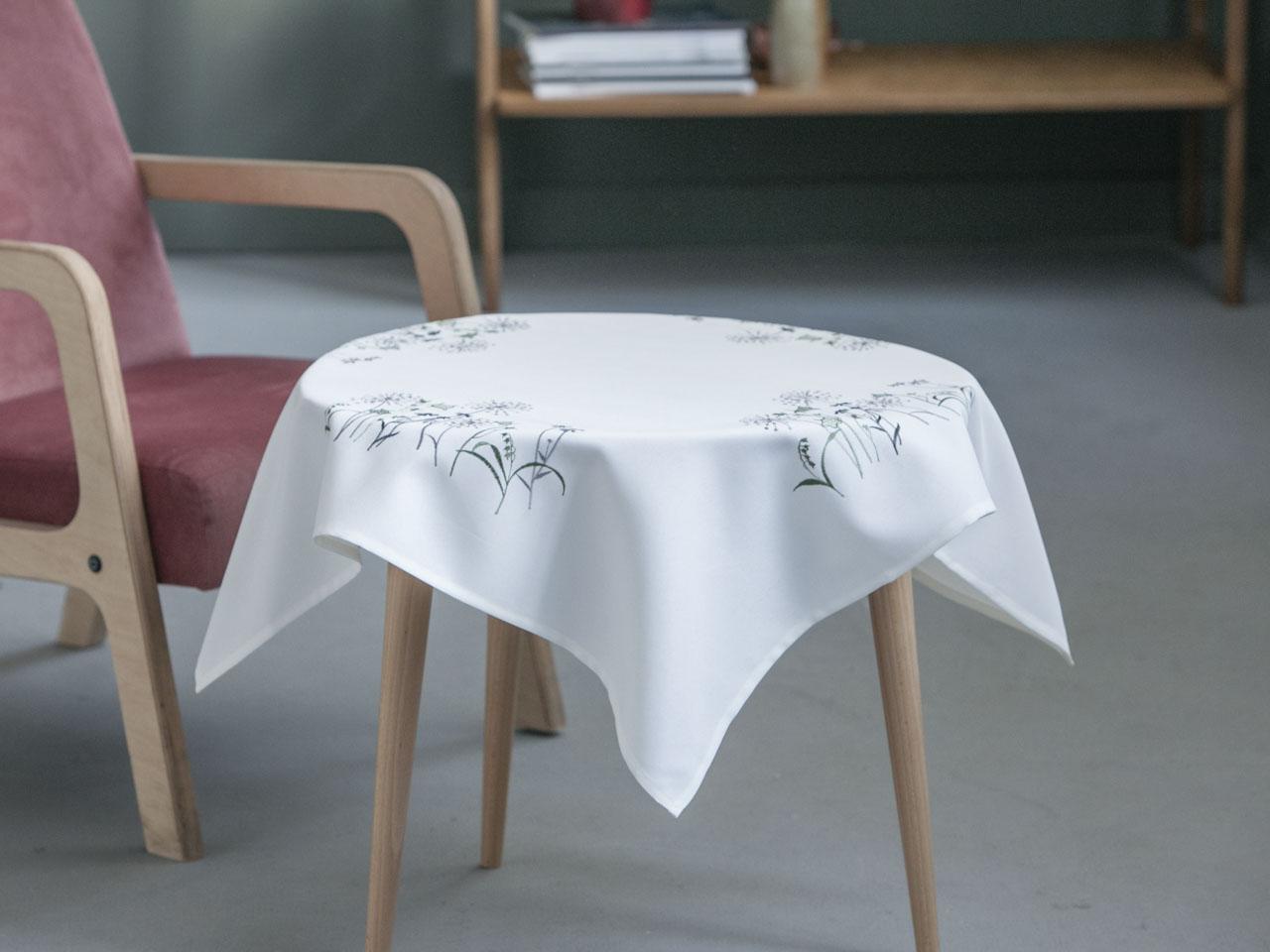 Obrus / Serweta na stół Altom Design Biały Kwiat Polny 80x80 cm