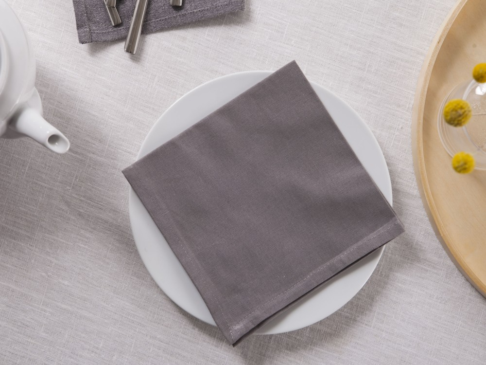 Serwetka na stół Altom Design Szara 40x40 cm