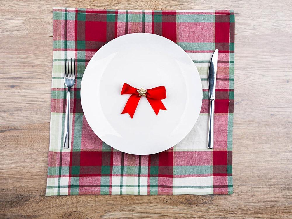 Serweta na stół bawełniany świąteczny Altom Design Victoria Red 40 x 40 cm