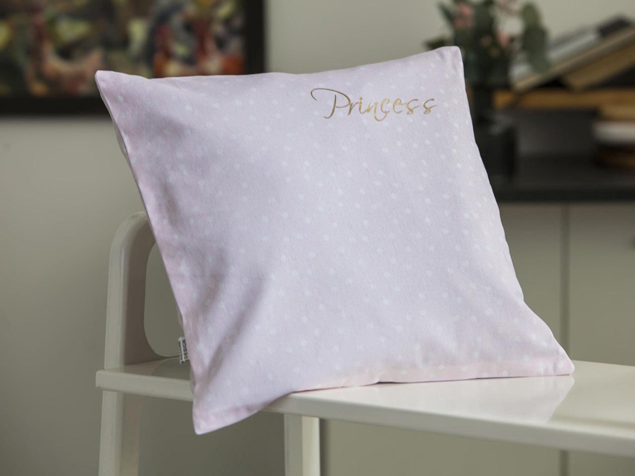 Poszewka na poduszkę dekoracyjna Altom Design Prince & Princess 40x40 cm Różowa