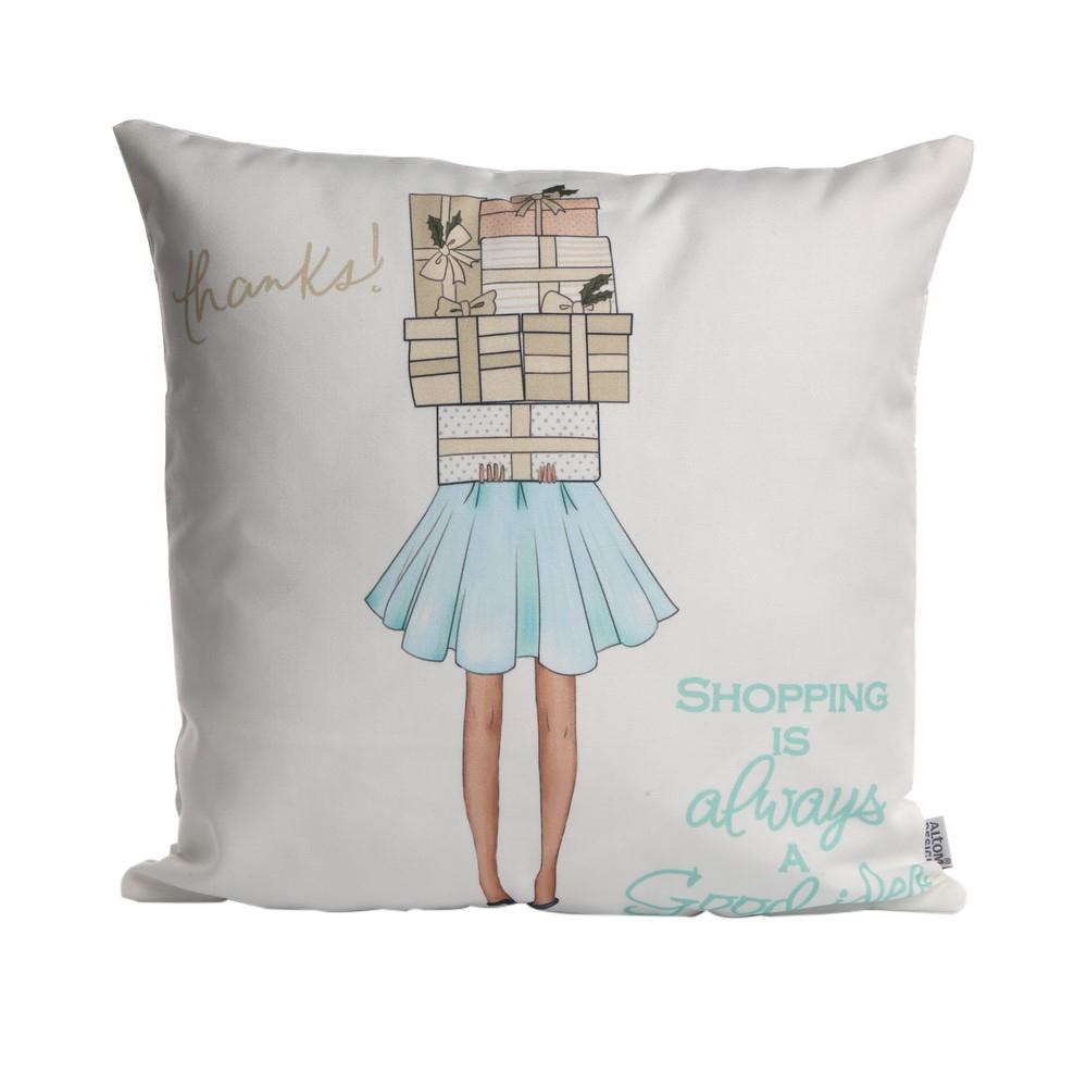 Poszewka na poduszkę dekoracyjna Altom Design Fashion dek. II 40x40 cm