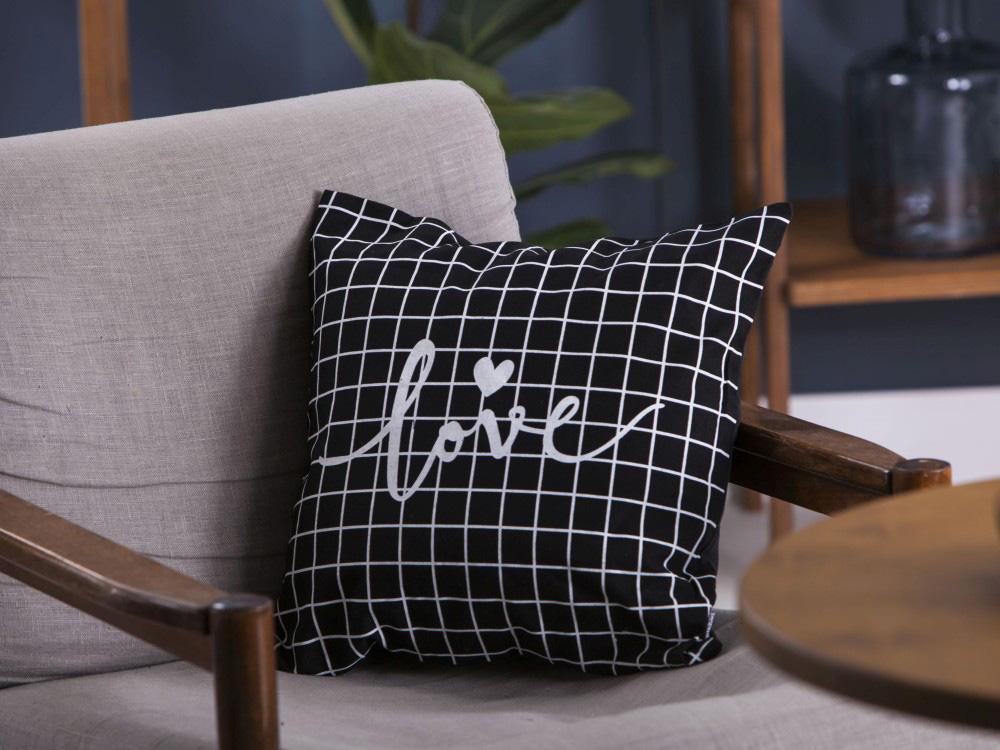 Poszewka na poduszkę Altom Design Miłość w Kratkę dek. II 40x40 cm
