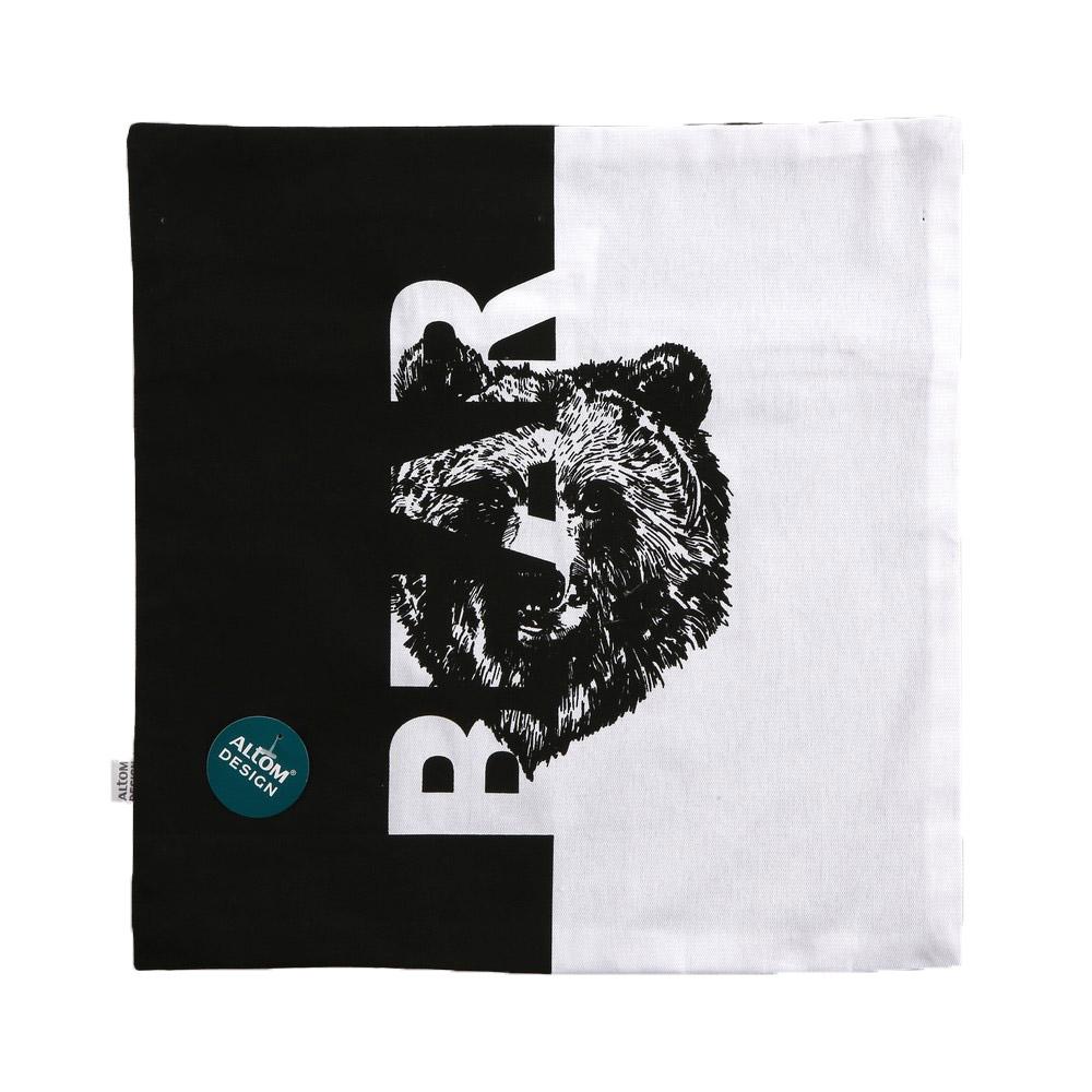 Poszewka na poduszkę dekoracyjna Altom Design Dzikie Zwierzęta dek. Bear 40x40 cm