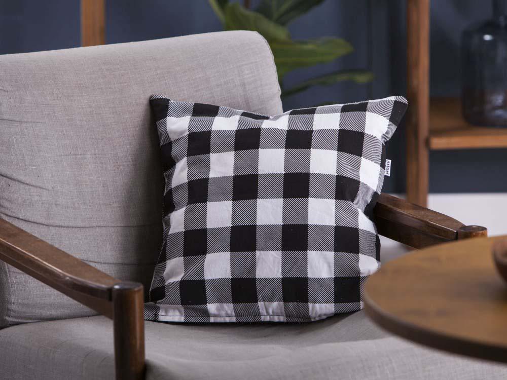 Poszewka na poduszkę Altom Design Miłość w Kratkę dek. I 40x40 cm