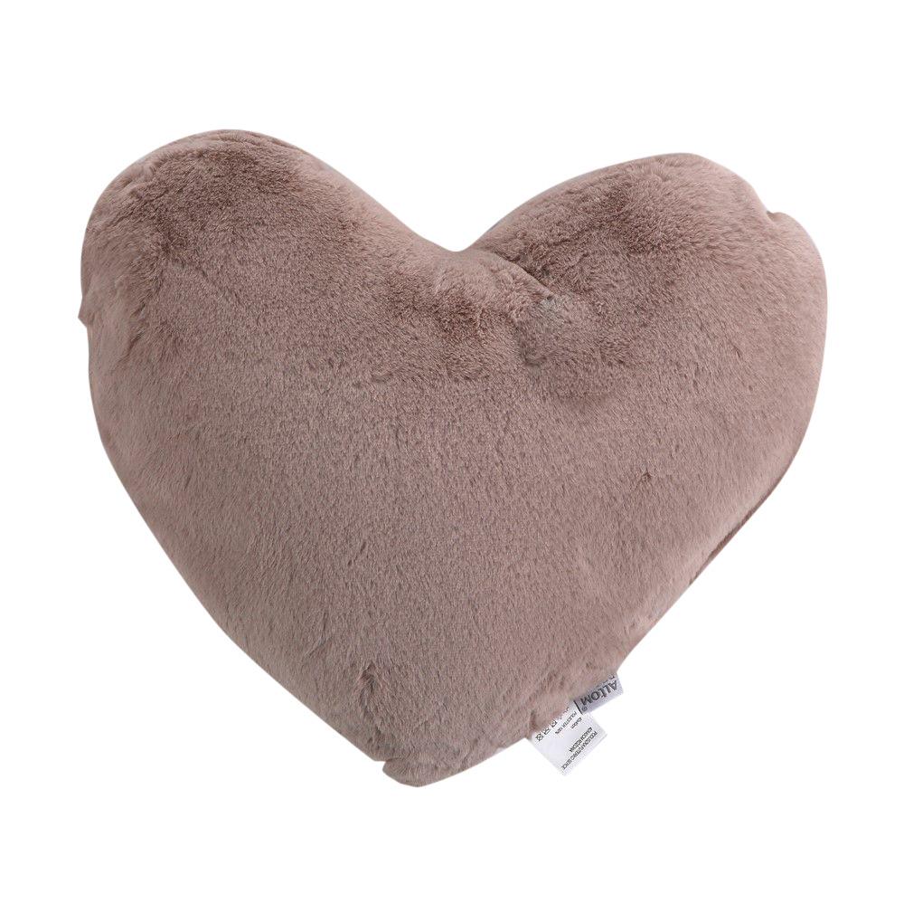 Poduszka dekoracyjna futerko Altom Design Serce 40x40 cm Różowa