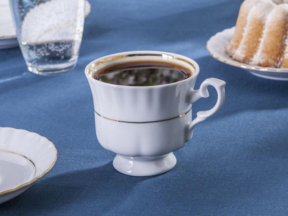 Filiżanka do kawy i herbaty Chodzież Iwona Złoty Pasek 220 ml