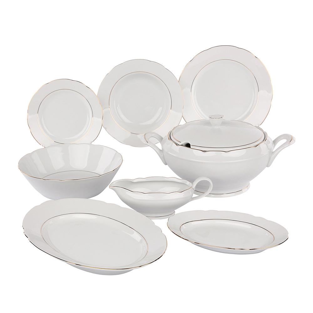 Serwis / Zestaw obiadowy na 12 osób Ćmielów Feston (41 elementów)