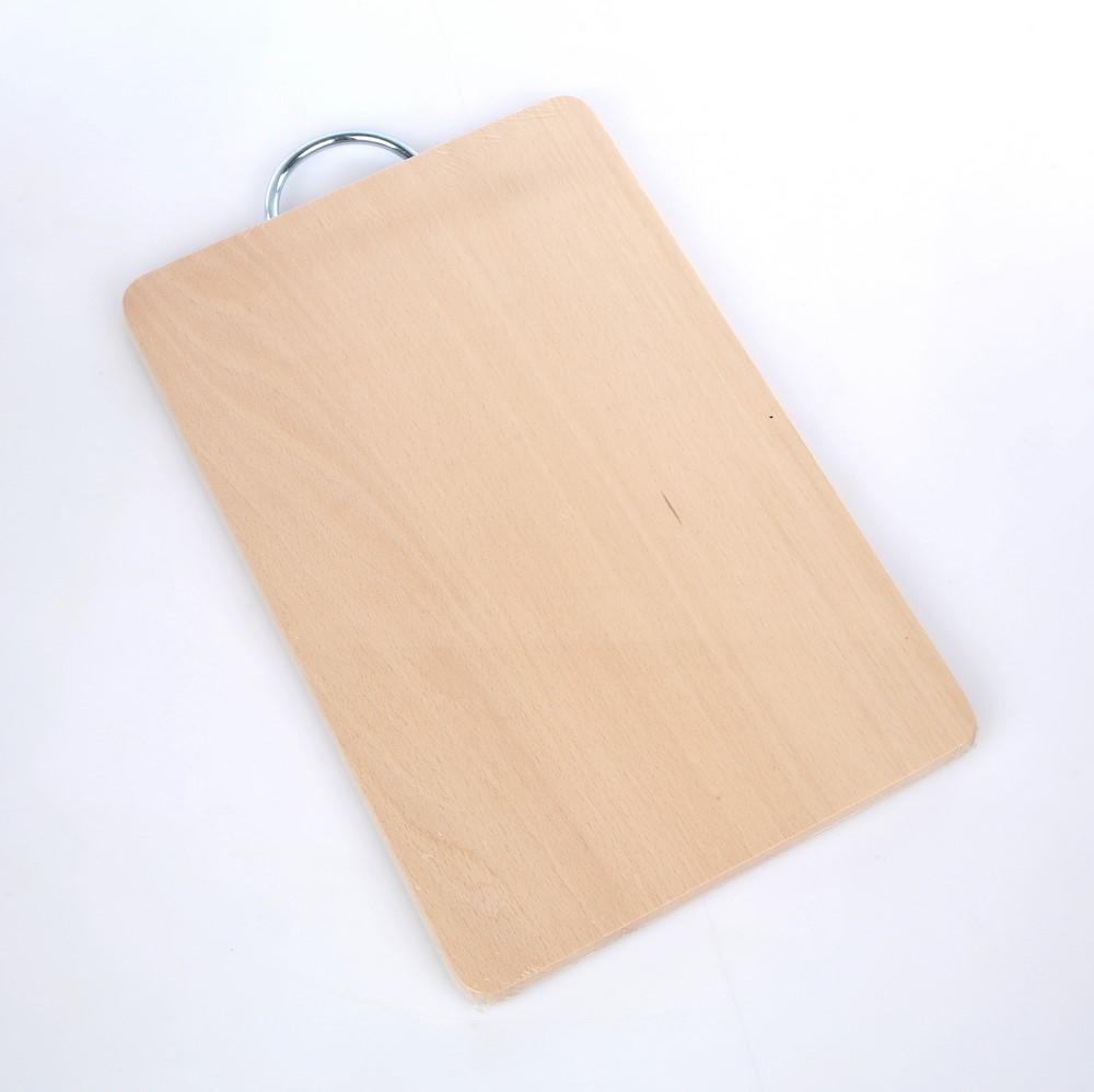 Deska do krojenia z uchwytem metalowym drewniana Roan 33x21x16 cm