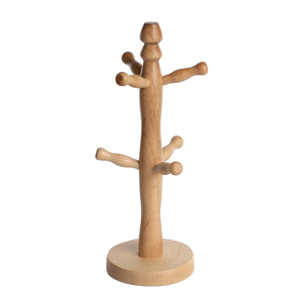 Stojak na kubki drewniany 32x11 cm