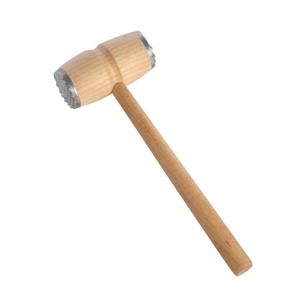 Tłuczek / młotek drewniany z końcówkami metalowymi