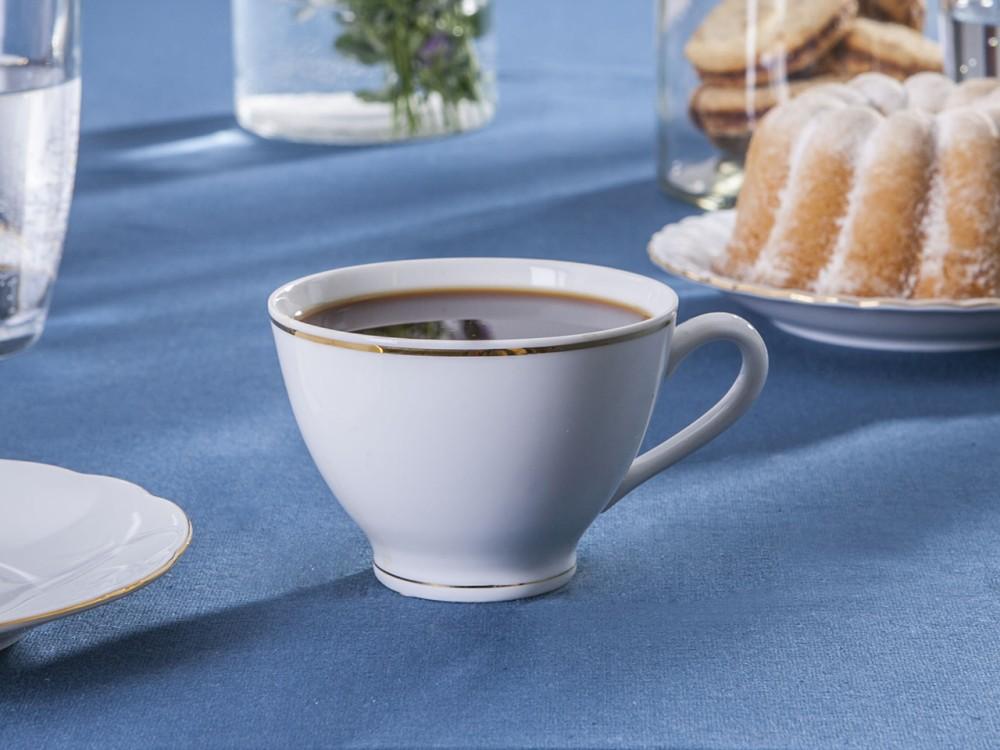 Filiżanka do kawy i herbaty Ćmielów Feston Złota Linia 250 ml
