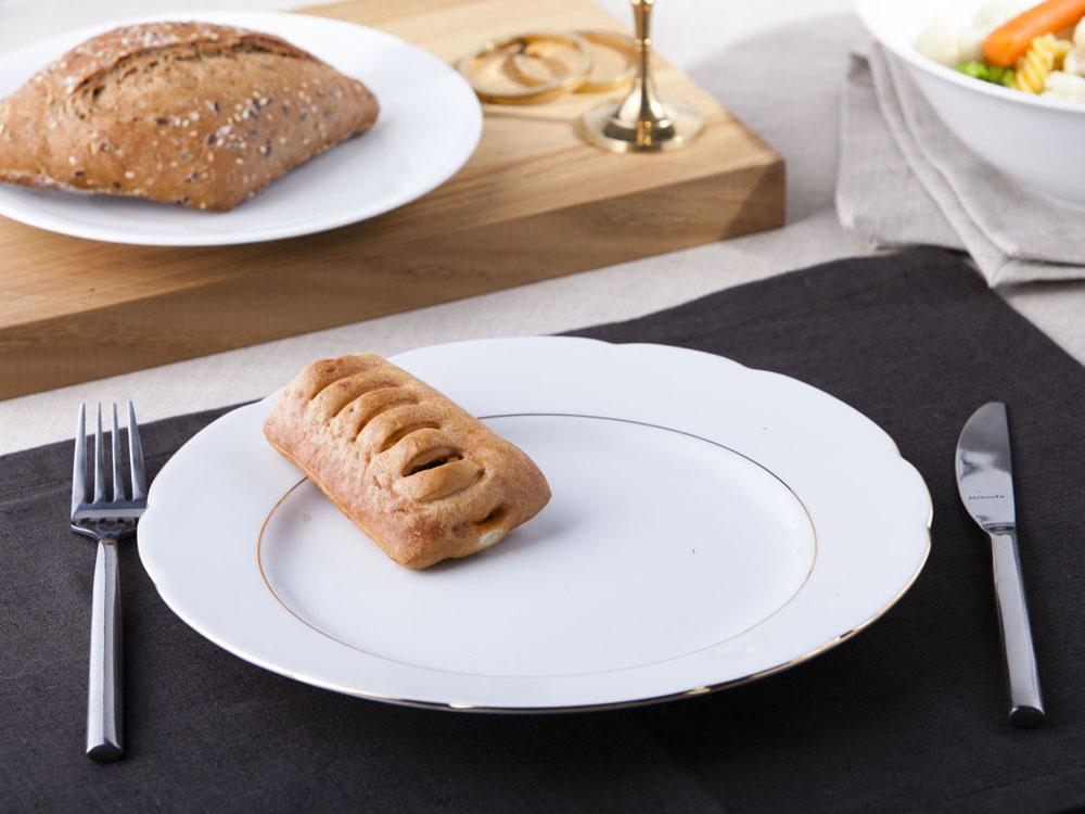 Talerz obiadowy płytki Ćmielów Feston Złoty Pasek 25 cm